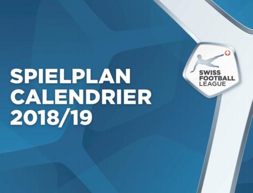 DER SPIELPLAN 2018/19 DER SWISS FOOTBALL LEAGUE